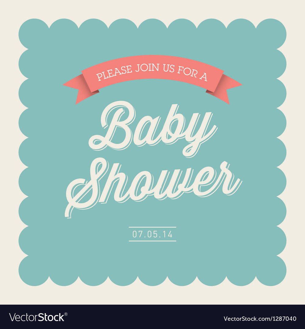Baby shower card invitation vector | Price: 1 Credit (USD $1)