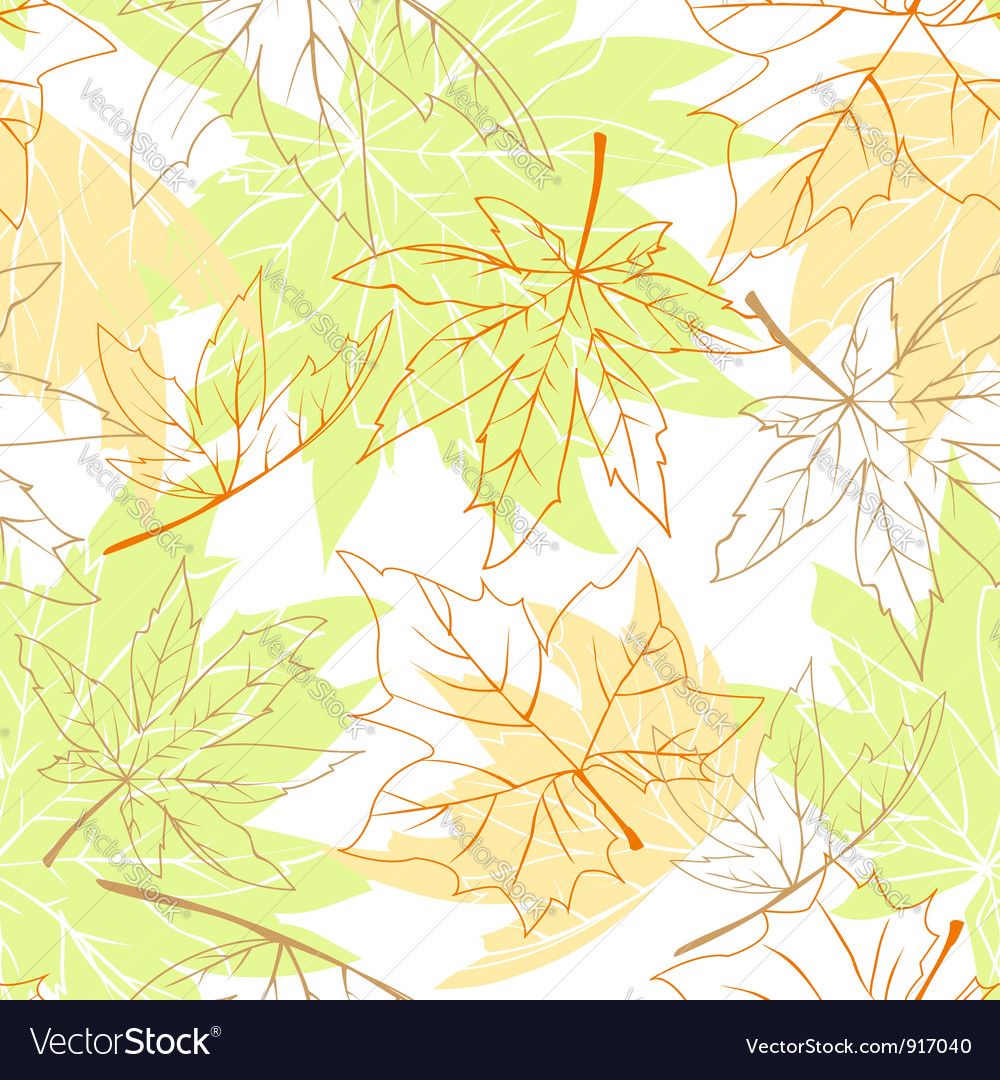 Colorful autumn leaves seamless vector | Price:  Credit (USD $)