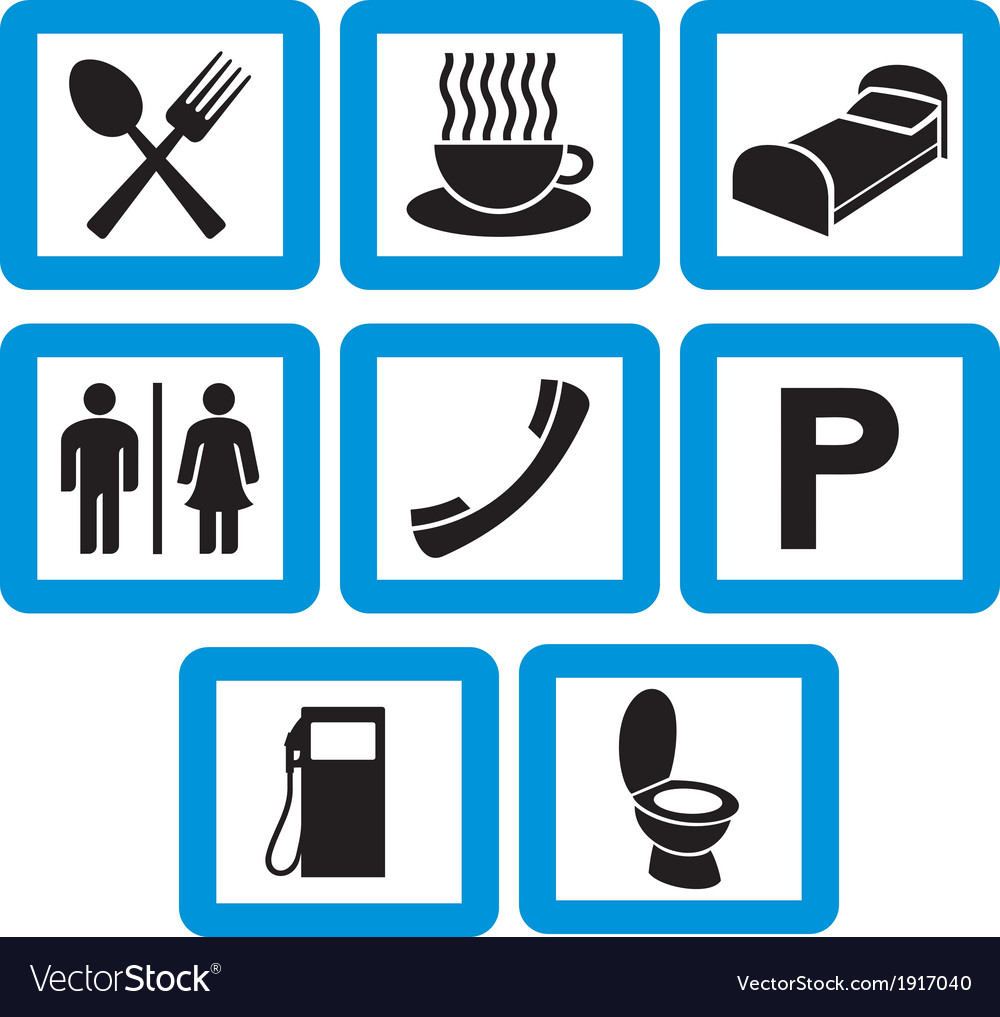Hotel icons set - hotel signs vector | Price: 1 Credit (USD $1)