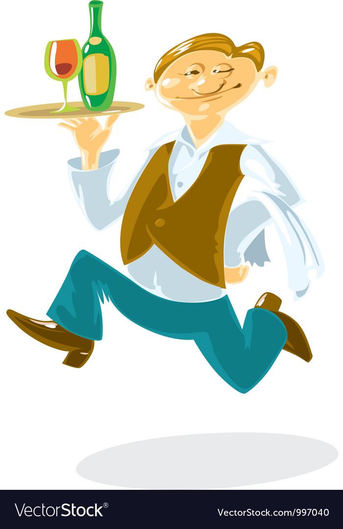 Running waiter vector | Price: 1 Credit (USD $1)