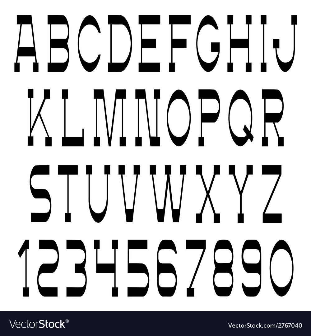 Slim black font and numbers vector   Price: 1 Credit (USD $1)