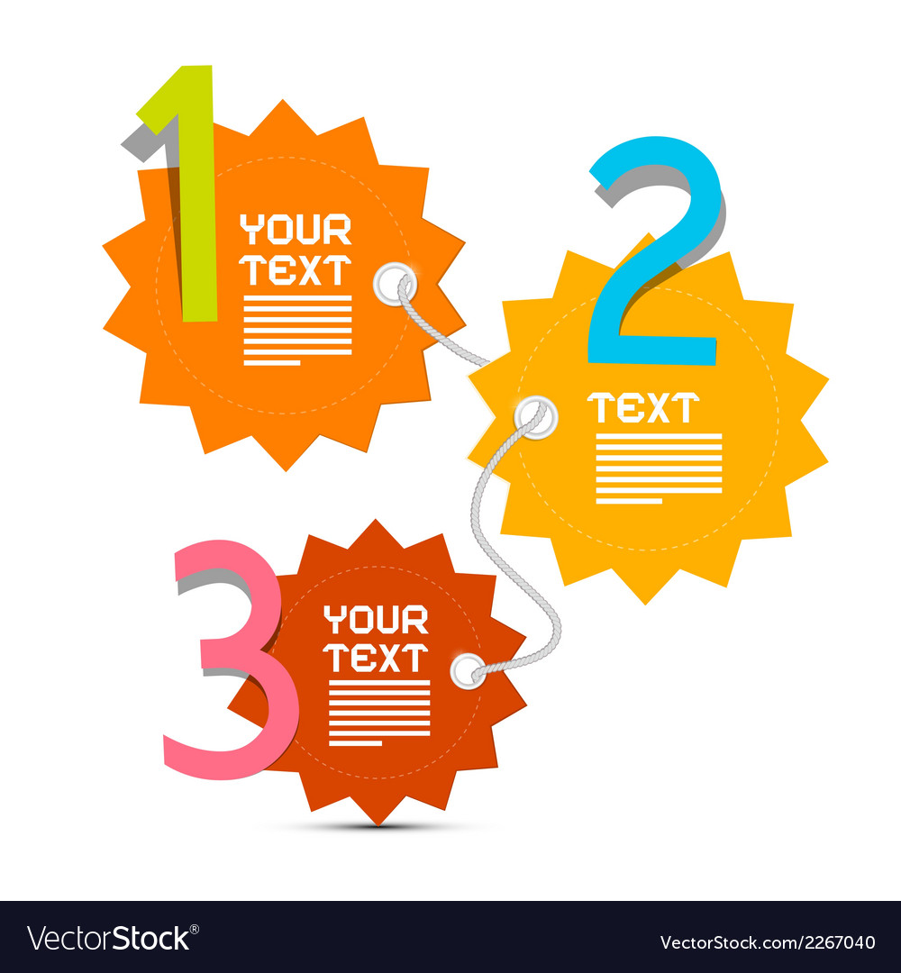 Three steps paper infographics layout vector | Price: 1 Credit (USD $1)