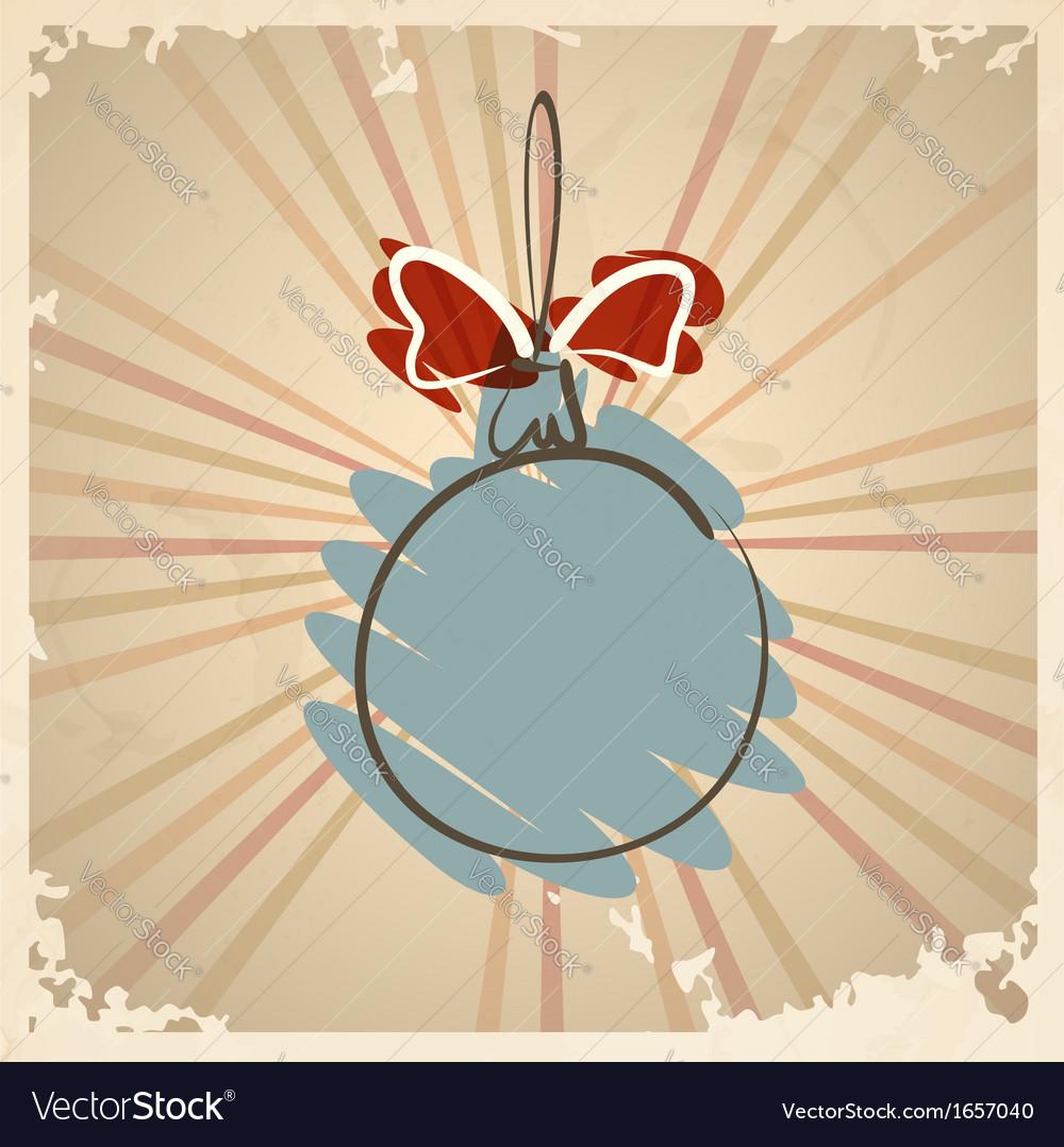 Vintage christmas ball vector | Price: 1 Credit (USD $1)
