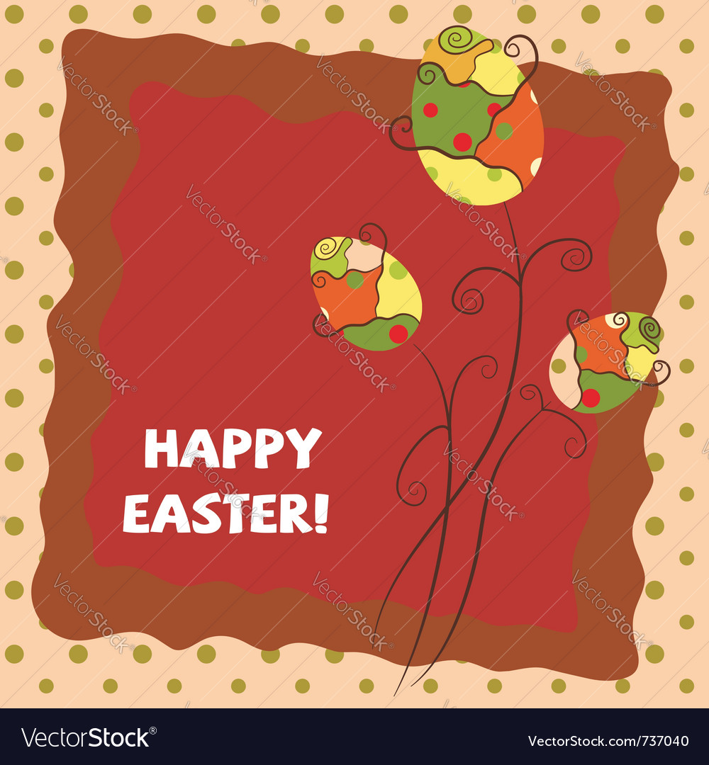 Warm easter greeting card vector | Price: 1 Credit (USD $1)