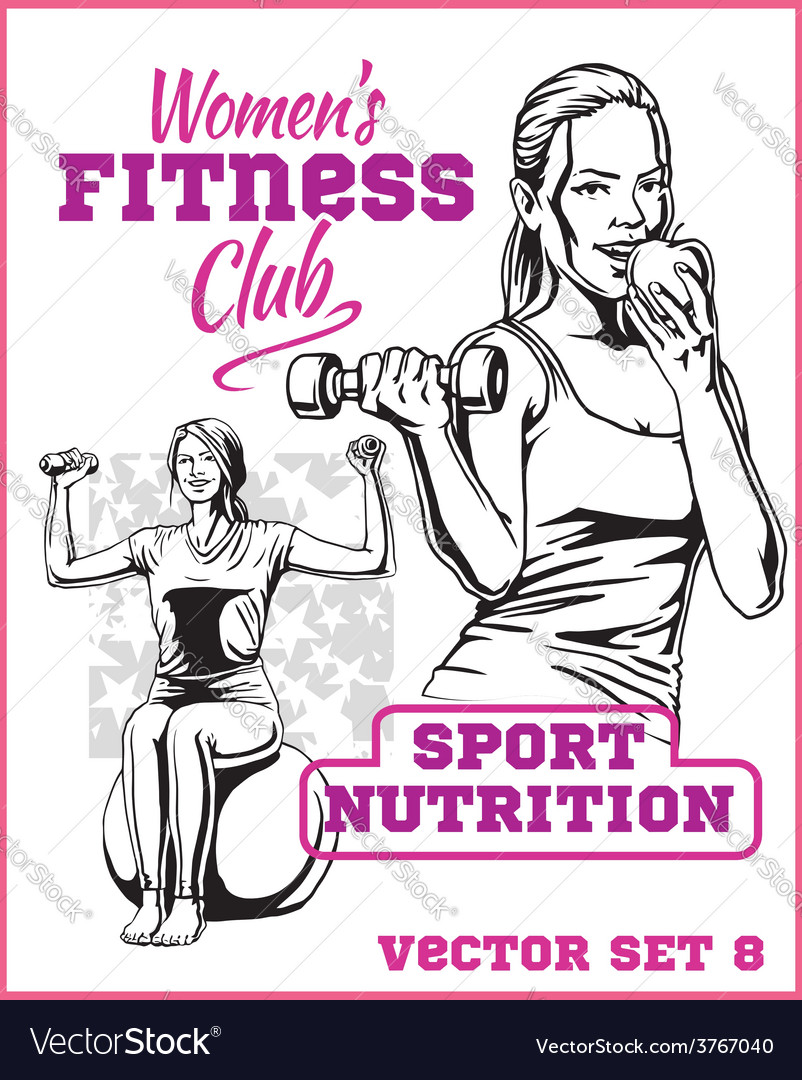 Womens fitness gym - stock vector | Price: 3 Credit (USD $3)