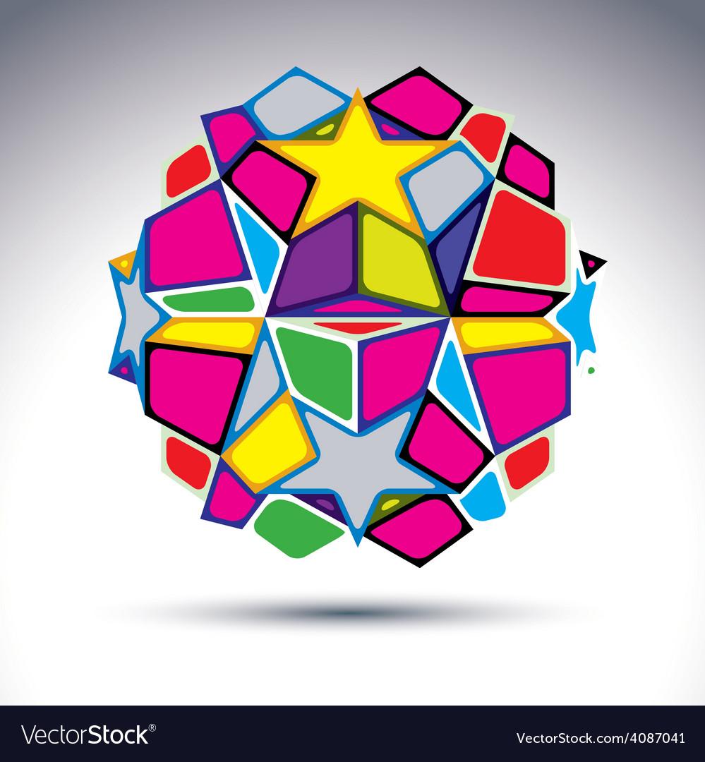 3d orb kaleidoscope vector | Price: 1 Credit (USD $1)