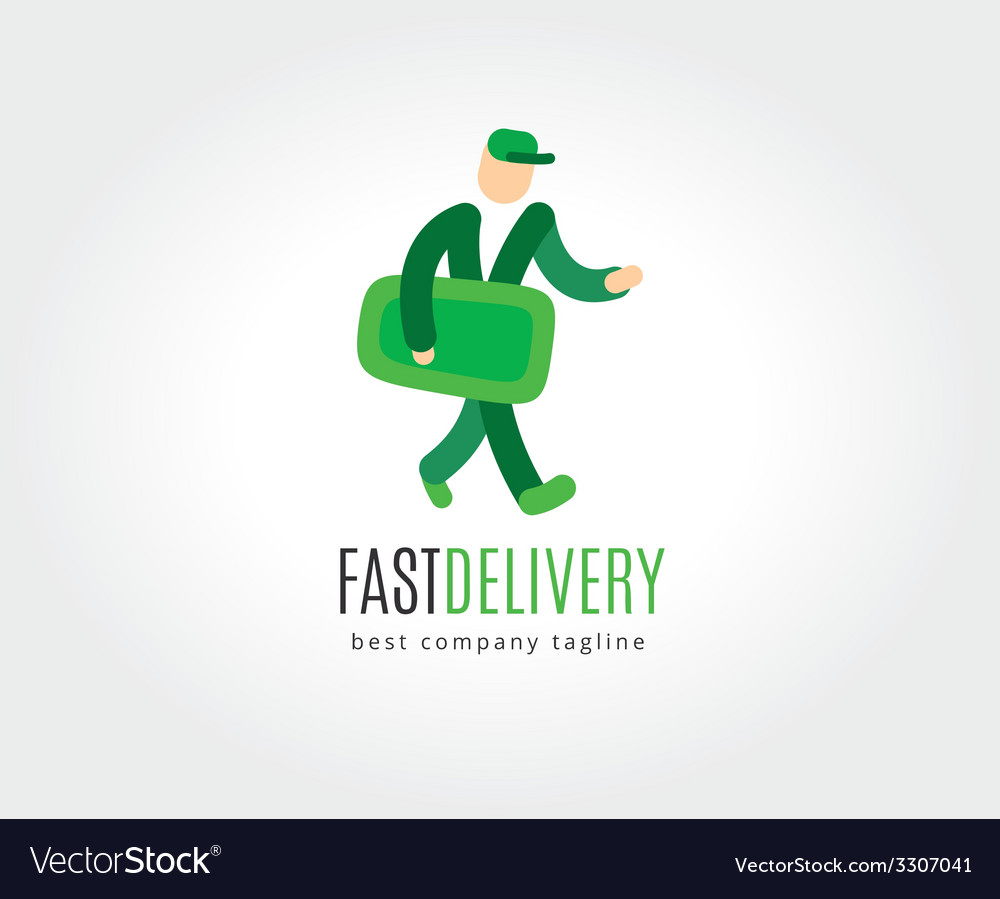 Abstract delivery logo icon concept logotype vector | Price: 1 Credit (USD $1)