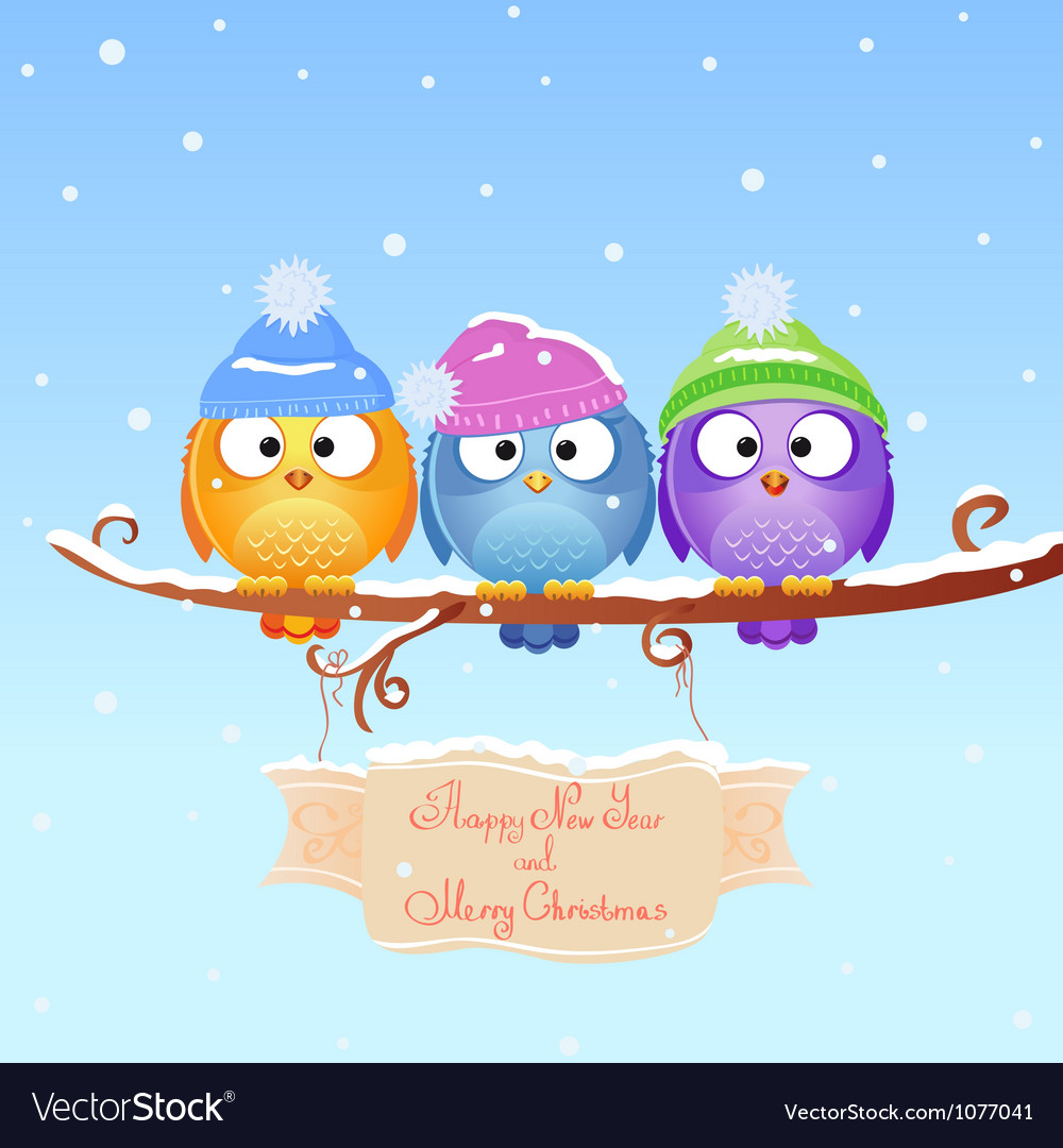 Christmas bird vector | Price: 3 Credit (USD $3)