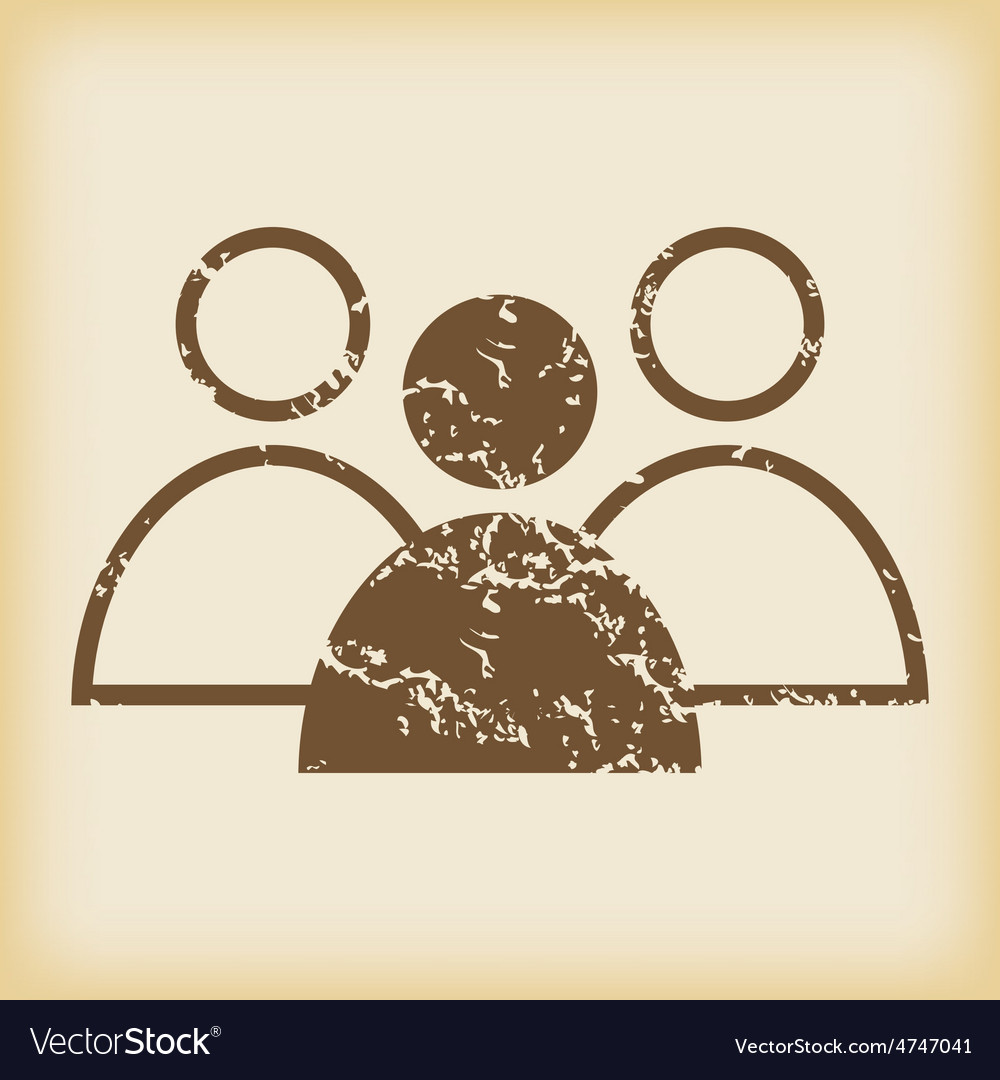 Grungy user group icon vector | Price: 1 Credit (USD $1)
