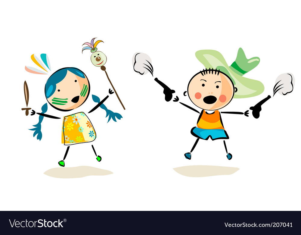 Happy kids vector | Price: 1 Credit (USD $1)