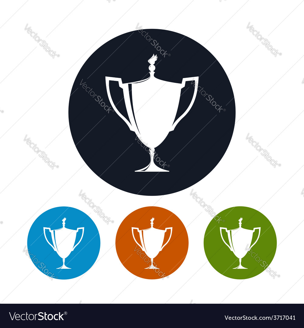 Icon cup of winnericon gold trophy cup vector | Price: 1 Credit (USD $1)