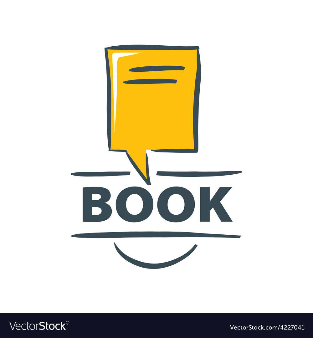 Logo book in the form of a bubble vector | Price: 1 Credit (USD $1)