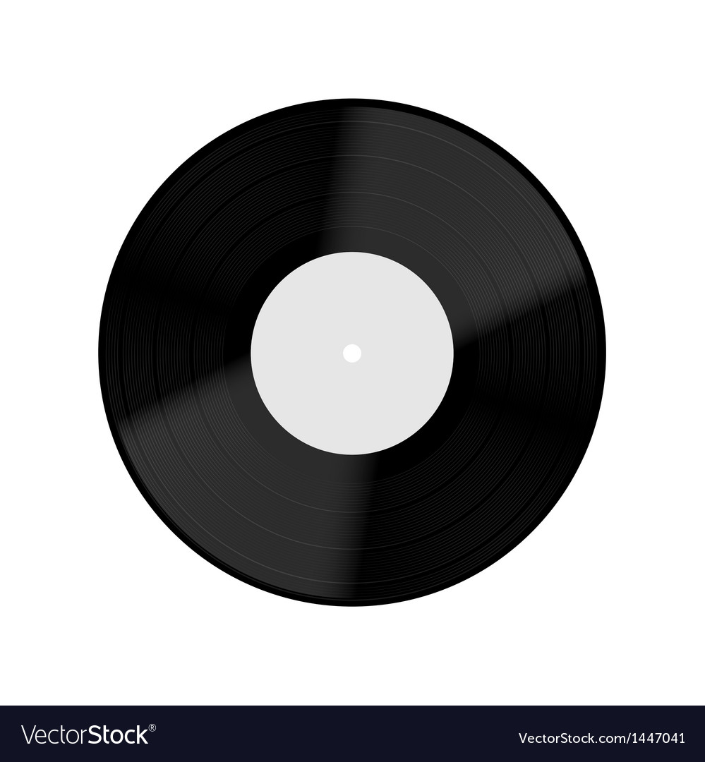 Old vinyl record isolated on white background vector | Price: 1 Credit (USD $1)