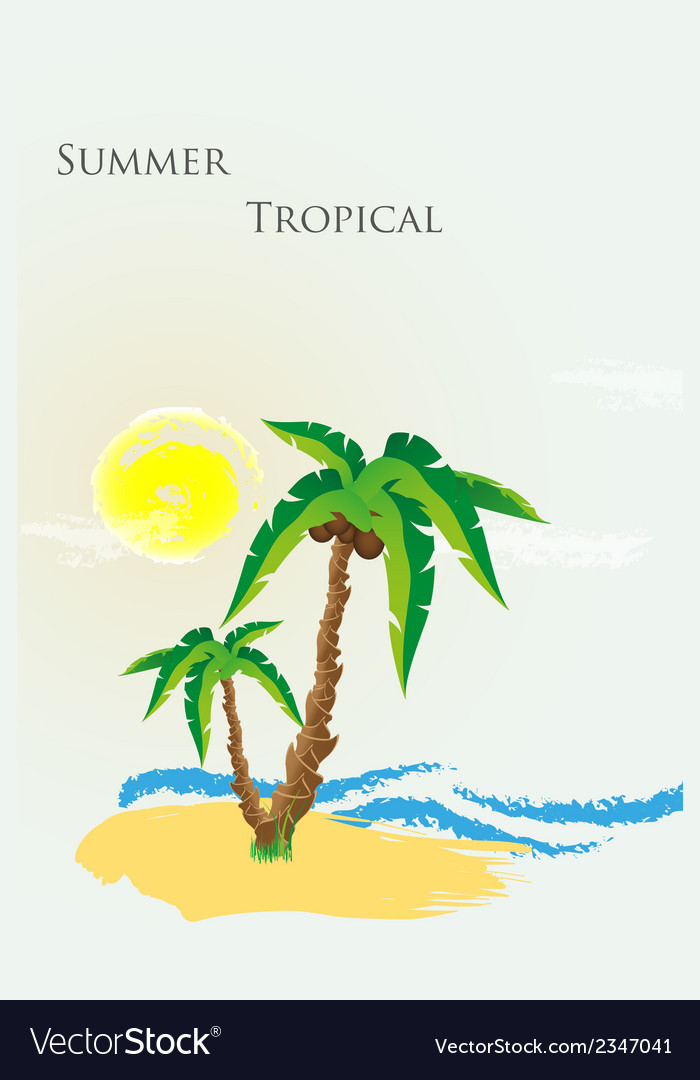 The palm tree vector | Price: 1 Credit (USD $1)