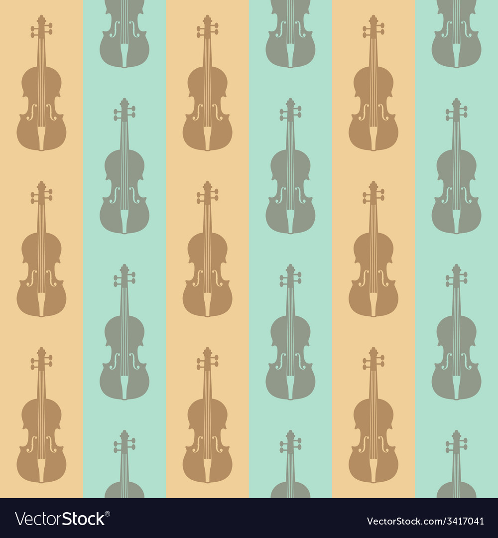 Seamless vintage background with violins vector | Price: 1 Credit (USD $1)