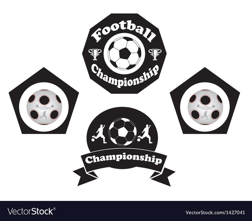 Soccer emblem vector | Price: 1 Credit (USD $1)