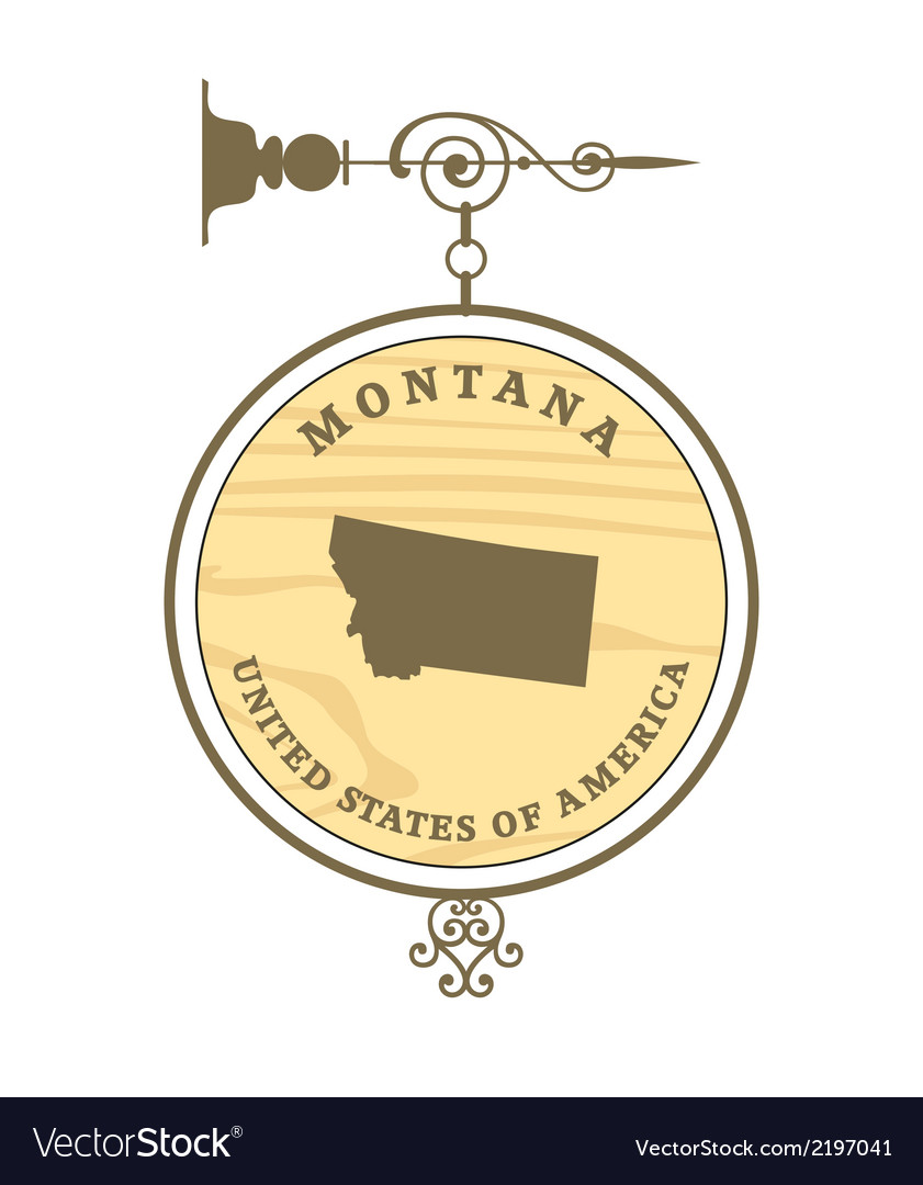 Vintage label montana vector | Price: 1 Credit (USD $1)