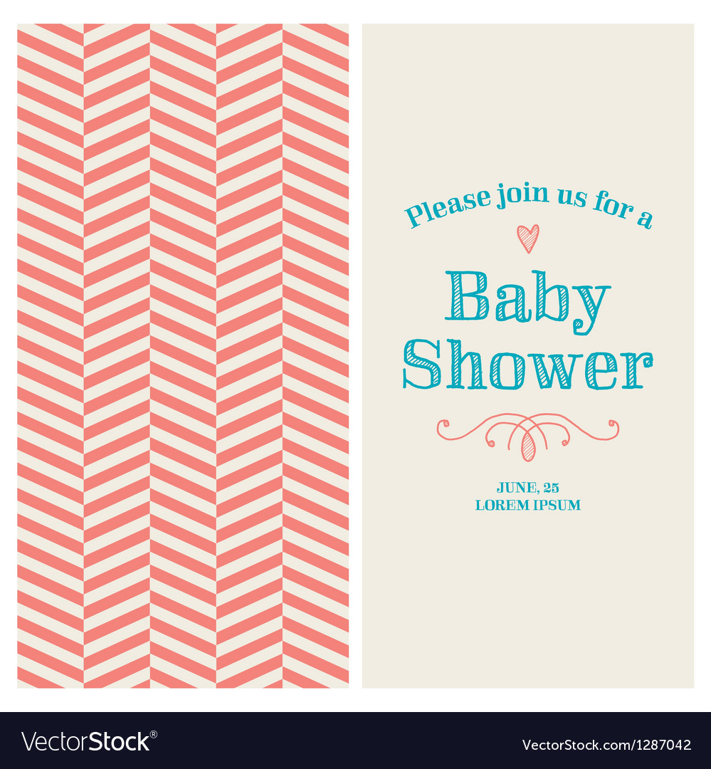 Baby shower card ornaments background vector | Price: 1 Credit (USD $1)