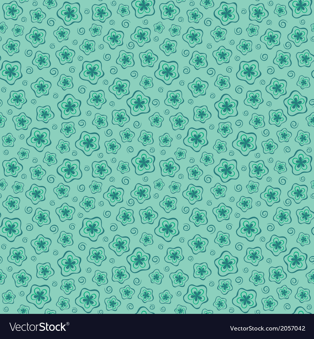Blue seamless floral pattern vector | Price: 1 Credit (USD $1)