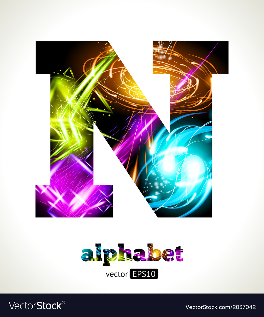 Design abstract letter n vector | Price: 1 Credit (USD $1)