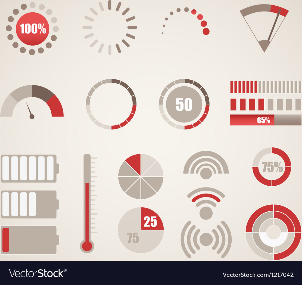 Different indicators collection vector | Price: 1 Credit (USD $1)