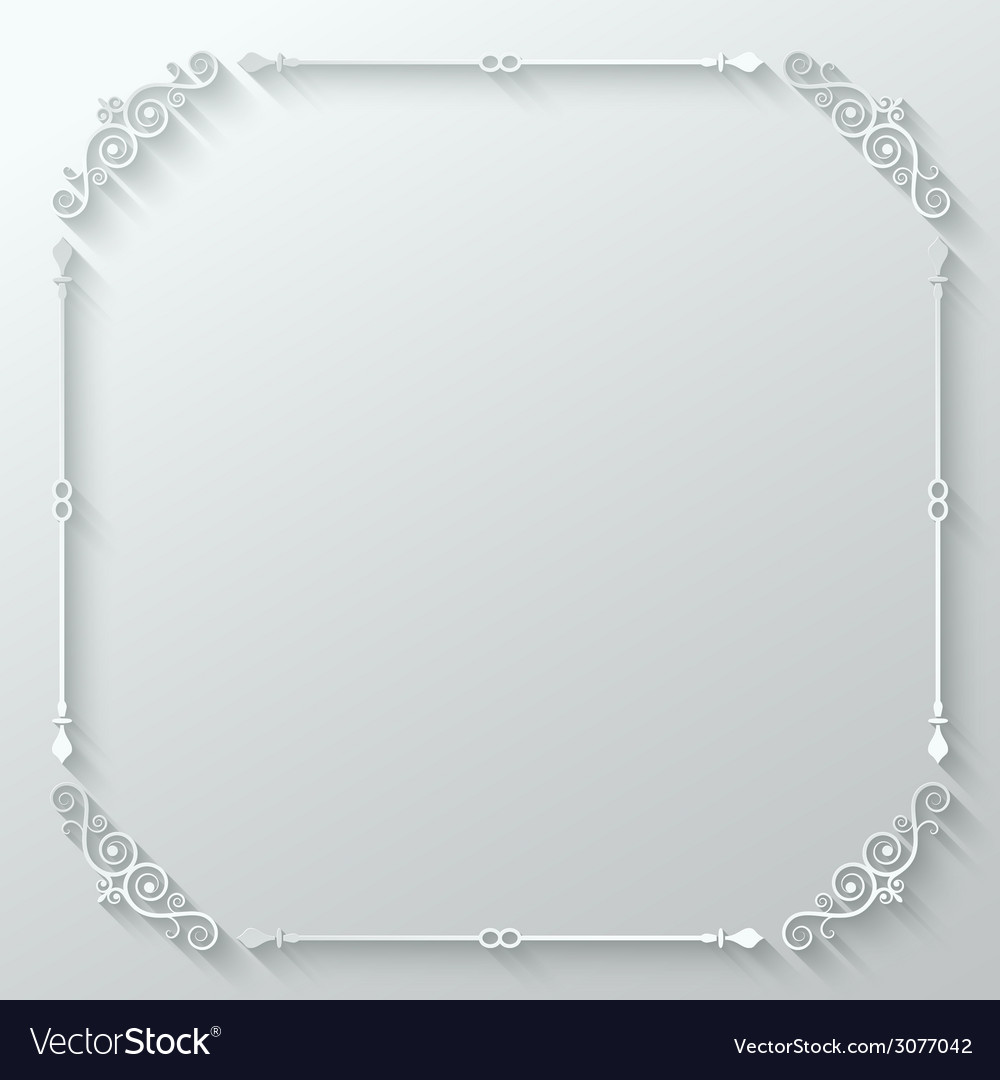 Frame ornate vintage paper cut background vector | Price: 1 Credit (USD $1)