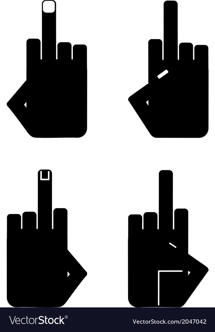 Hand sign insult vector | Price: 1 Credit (USD $1)