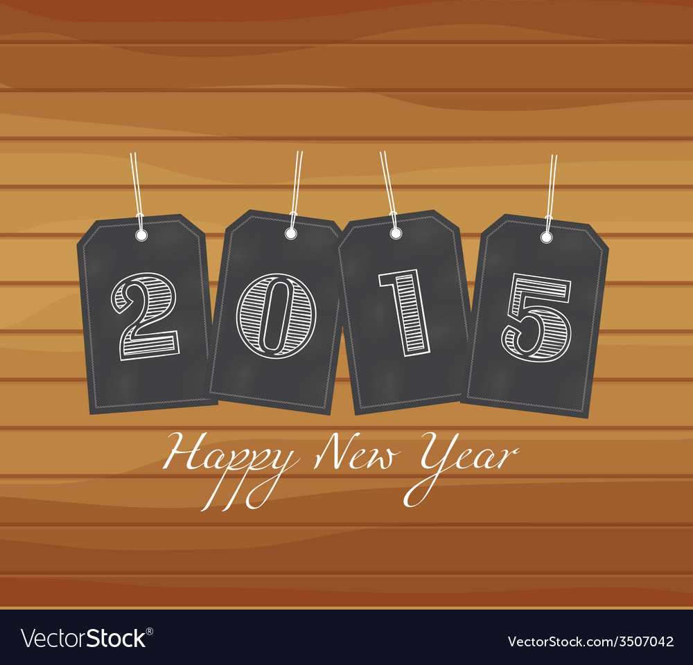 Happy new year stickers vector | Price: 1 Credit (USD $1)
