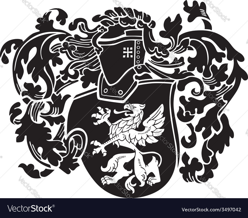 Heraldic silhouette no44 vector | Price: 1 Credit (USD $1)