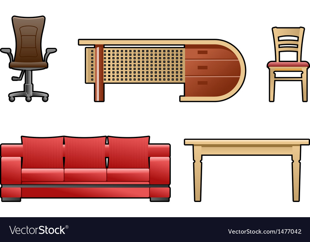 Set of furniture vector | Price: 1 Credit (USD $1)