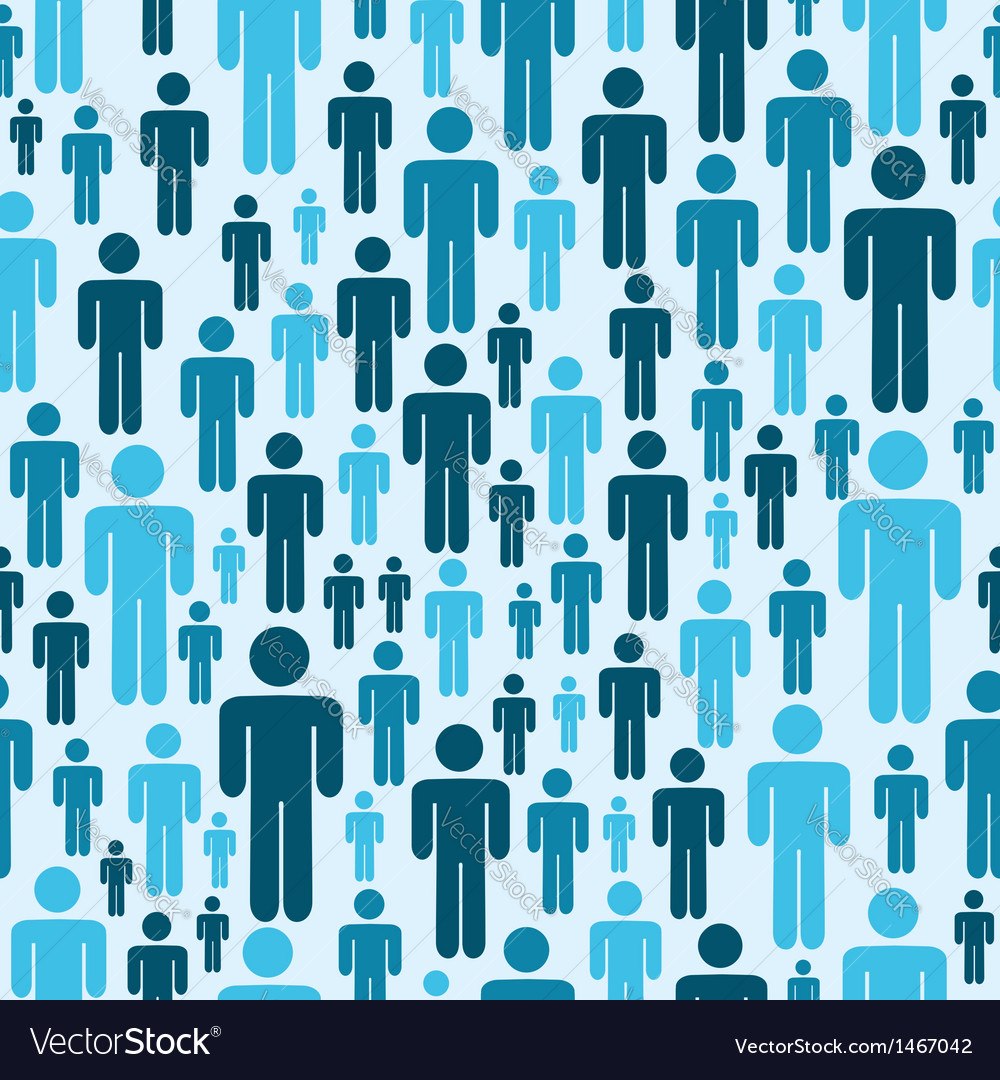 Social media people pattern vector | Price: 1 Credit (USD $1)