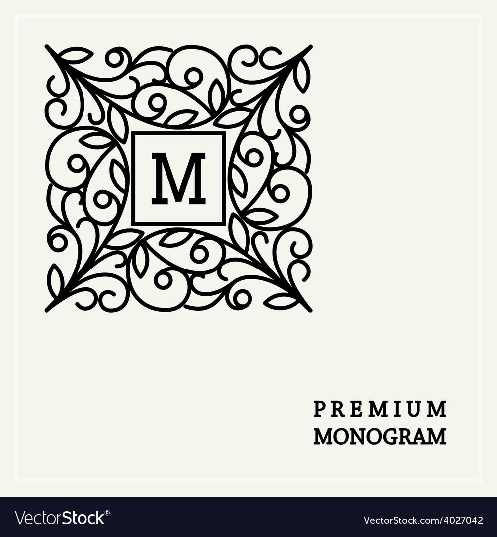 Stylish graceful monogram in art nouveau style vector   Price: 1 Credit (USD $1)