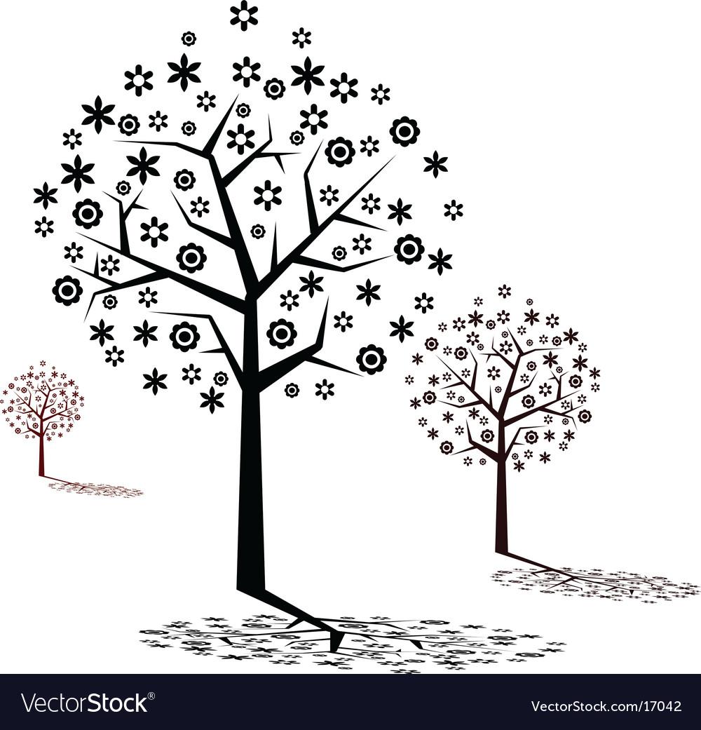 Stylized tree design vector | Price: 1 Credit (USD $1)