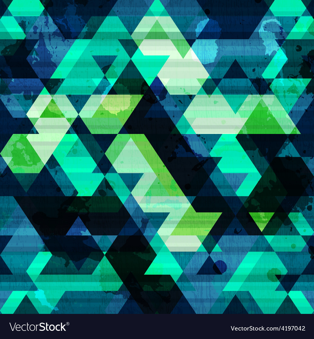 Urban triangle seamless pattern with grunge effect vector | Price: 1 Credit (USD $1)