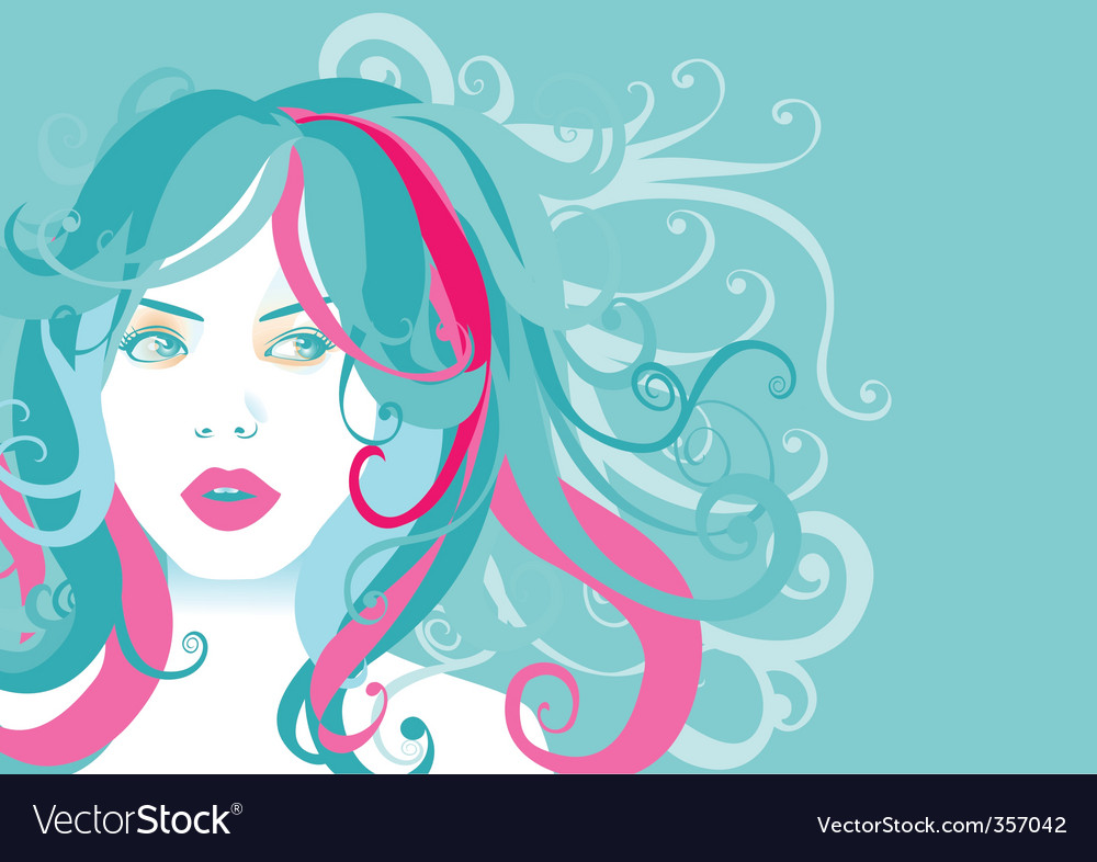 Young woman portrait vector | Price: 1 Credit (USD $1)
