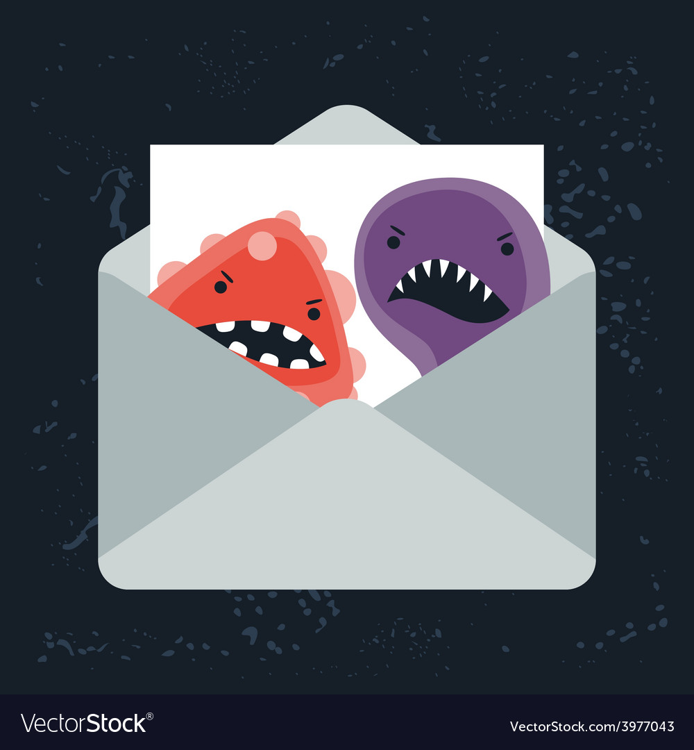 Abstract email spam virus infection vector | Price: 1 Credit (USD $1)