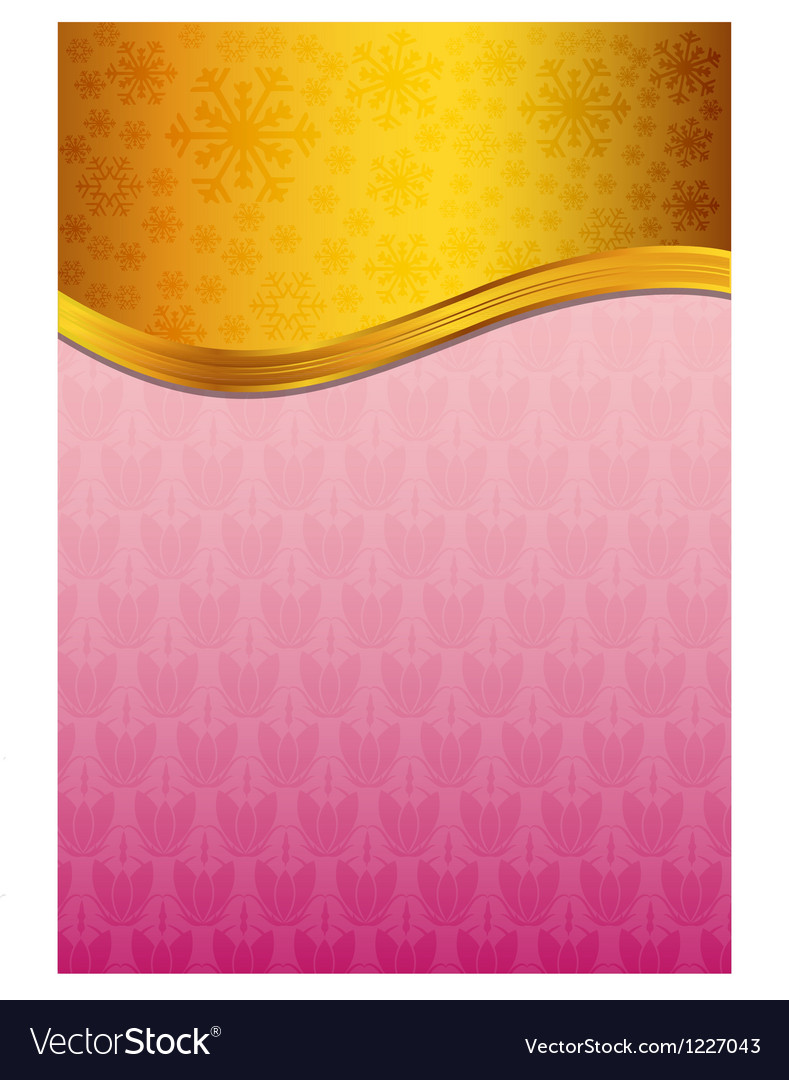 Abstract pink celebration paper with golden ribbon vector | Price: 1 Credit (USD $1)