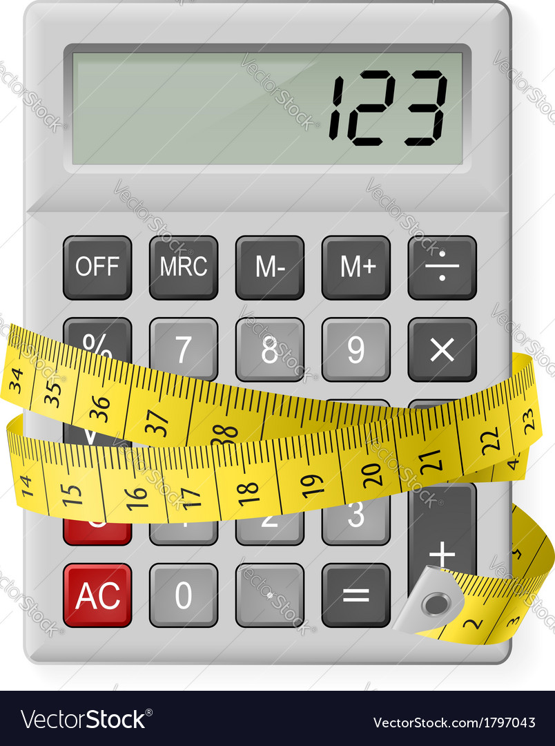 Calories counting vector | Price: 1 Credit (USD $1)