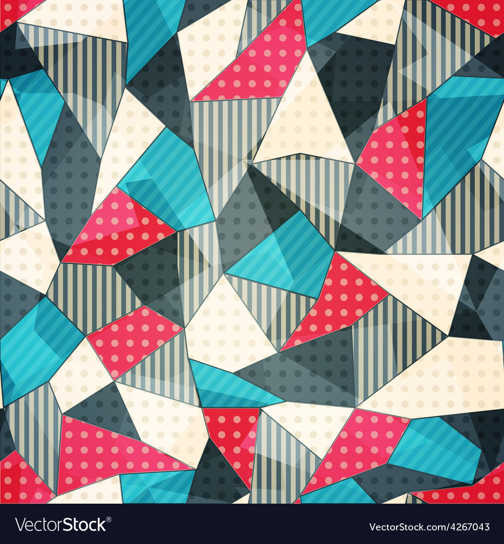 Fabric pieces seamless pattern vector | Price: 1 Credit (USD $1)