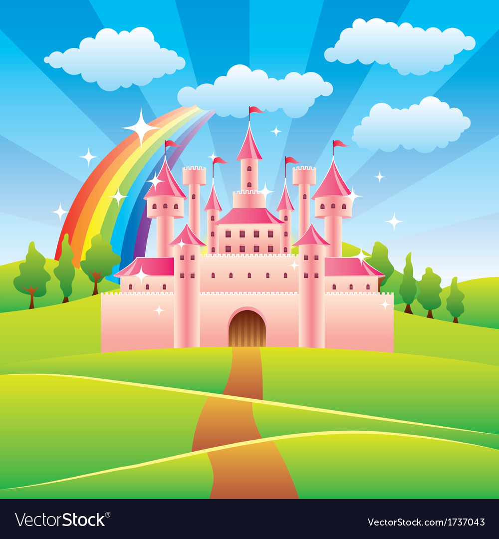 Fairy tale castle vector | Price: 3 Credit (USD $3)