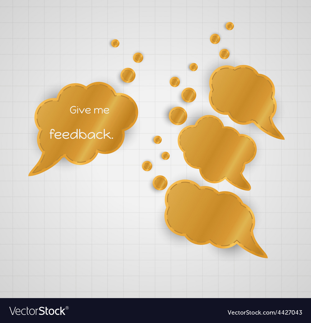 Give me feedback speech bubble with empty bubbles vector | Price: 1 Credit (USD $1)