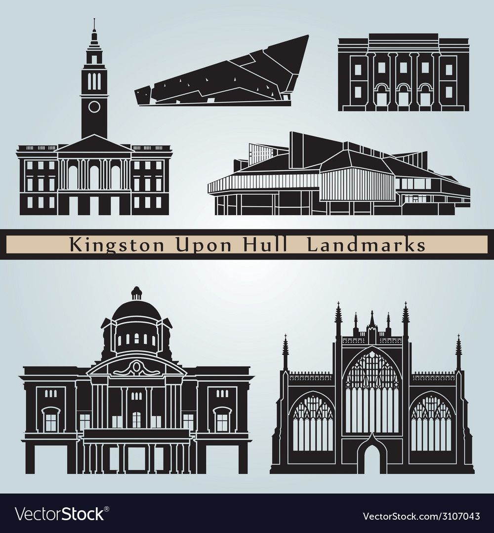 Kingston upon hull landmarks and monuments vector | Price: 1 Credit (USD $1)