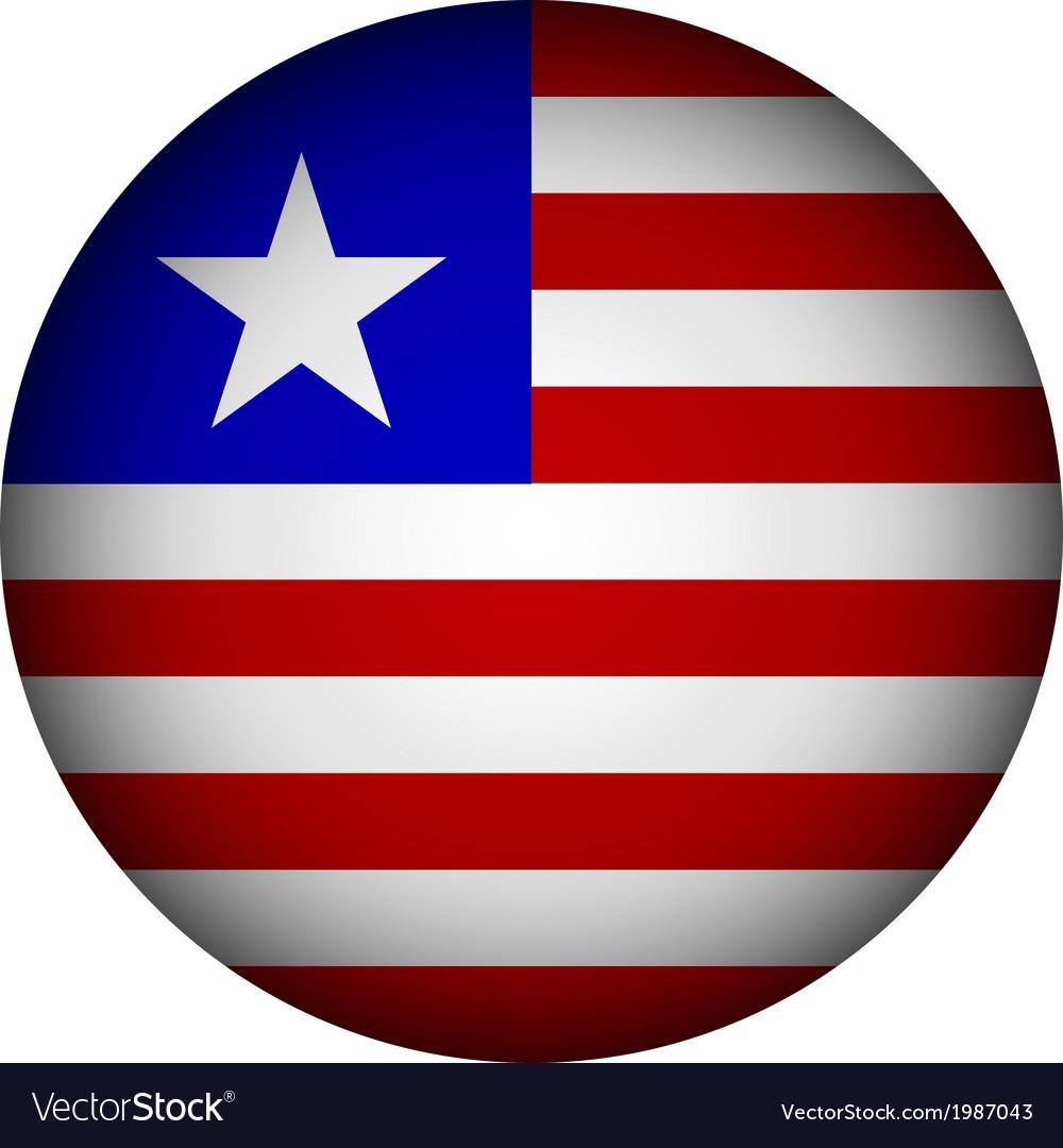 Liberia flag button vector | Price: 1 Credit (USD $1)
