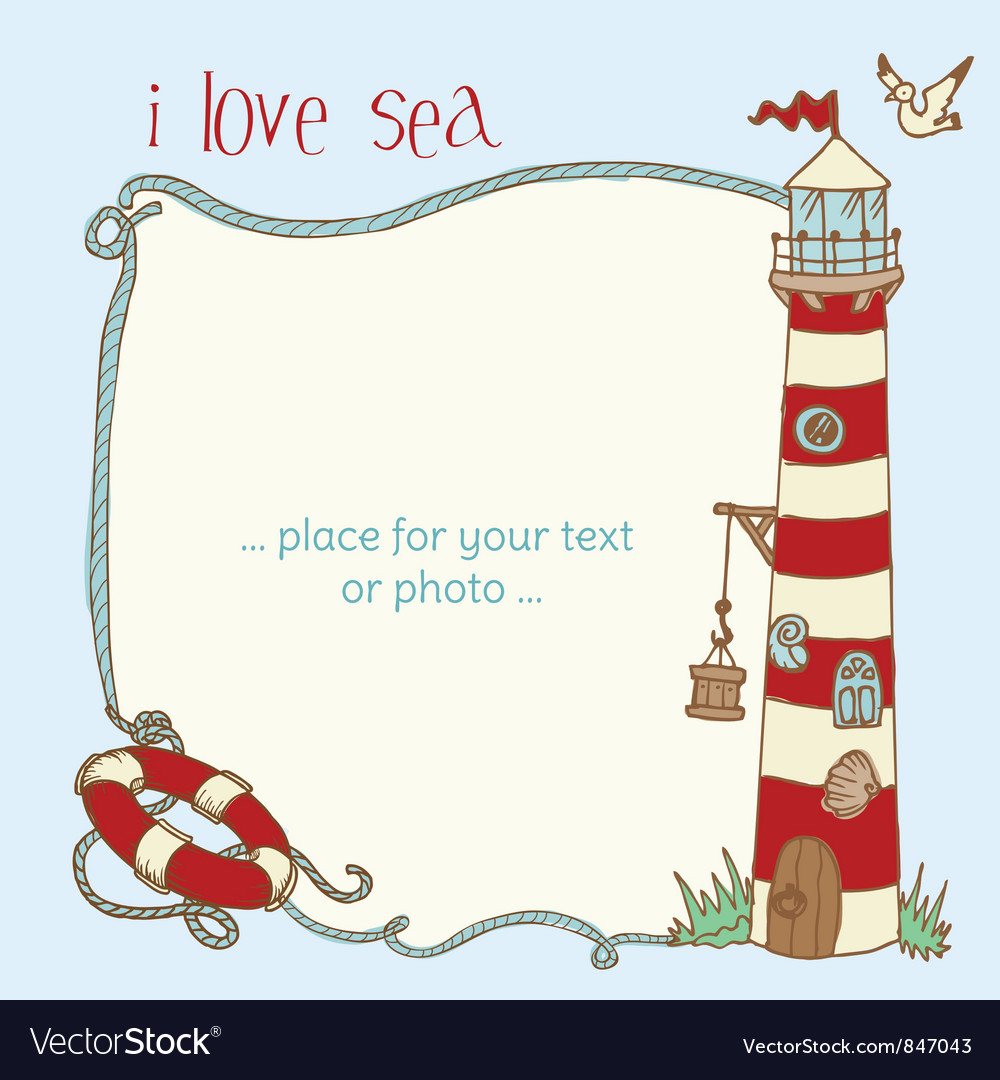 Nautical card vector | Price: 1 Credit (USD $1)