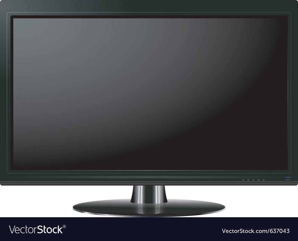 Of a plasma tv vector | Price: 3 Credit (USD $3)