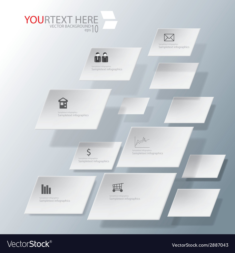 Rhombus for abstract business infographic backgrou vector   Price: 1 Credit (USD $1)