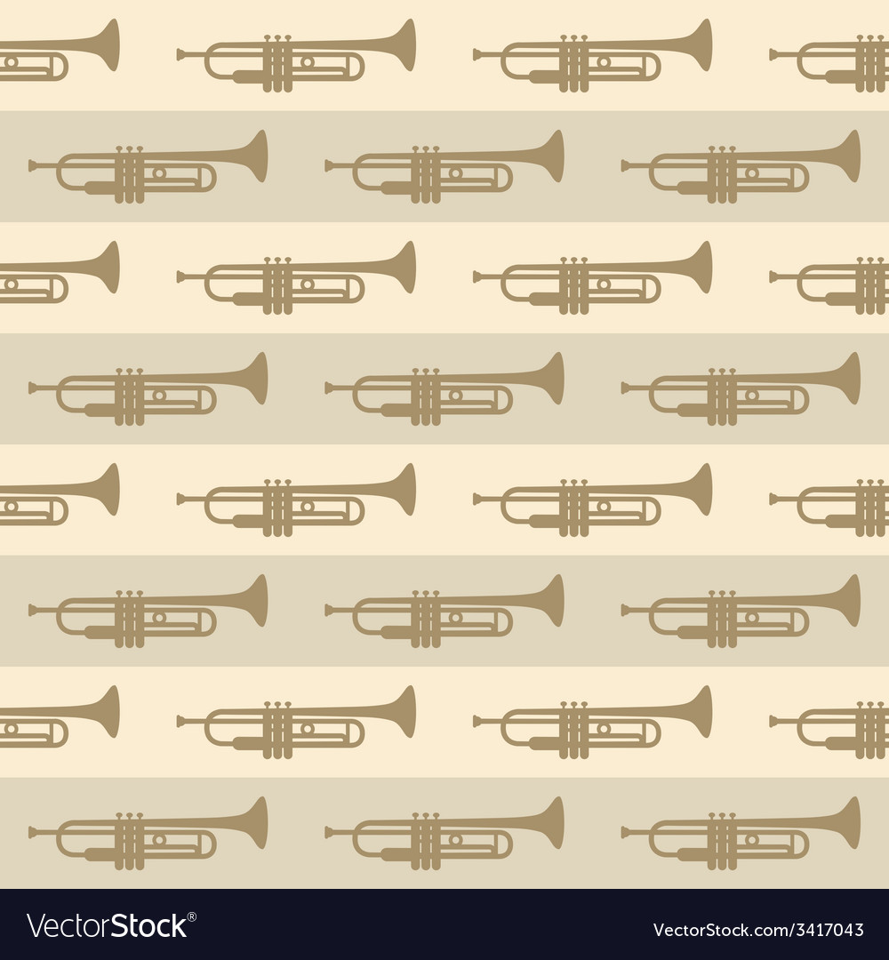 Seamless vintage background with trumpets vector | Price: 1 Credit (USD $1)