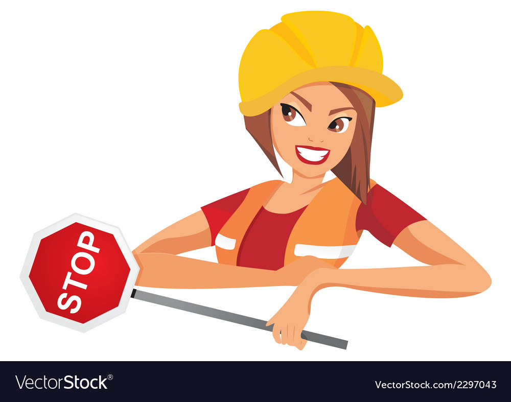 Woman ask you to stop vector   Price: 1 Credit (USD $1)