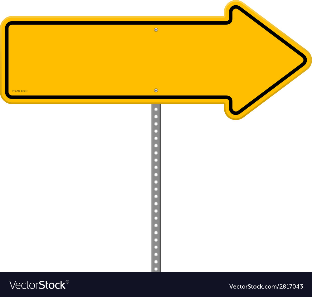 Yellow direction sign vector | Price: 1 Credit (USD $1)