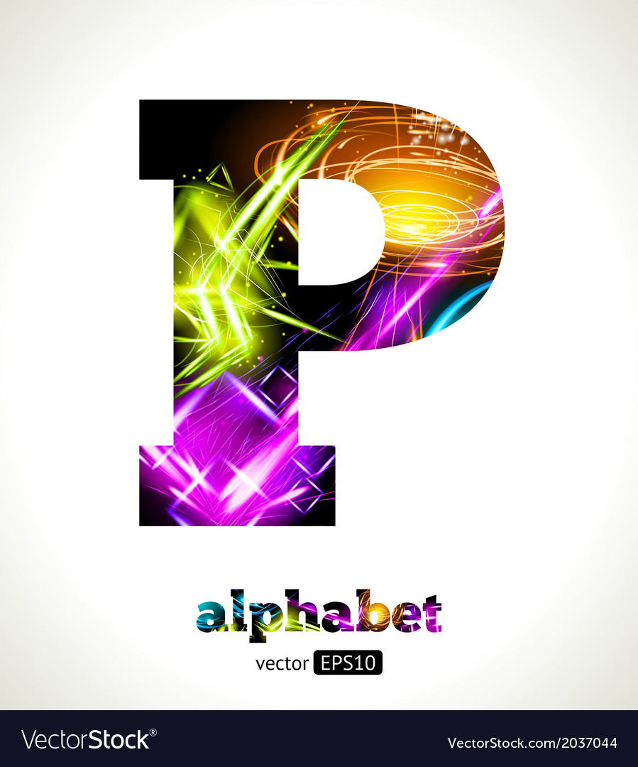 Design abstract letter p vector | Price: 1 Credit (USD $1)
